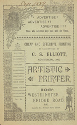 Advert For C. S. Elliott, Printer 6408